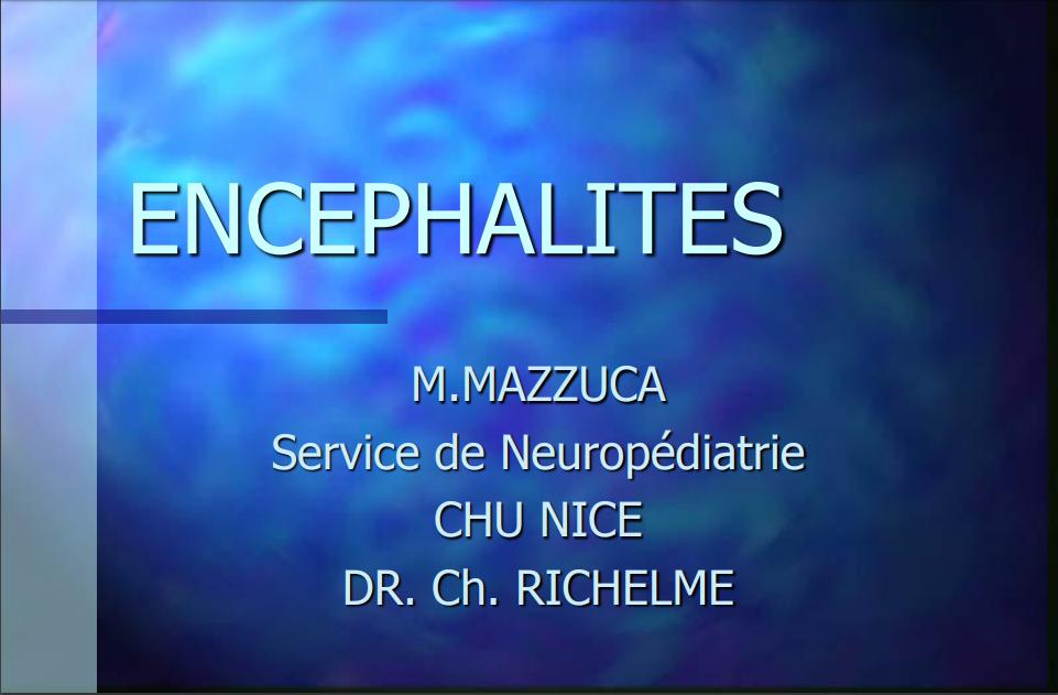 ENCÉPHALITES .PDF