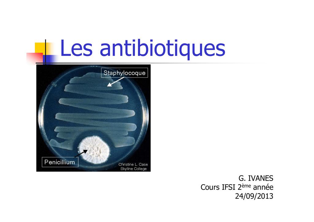 Les antibiotiques (3