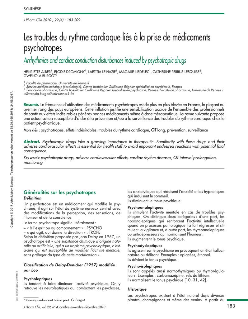 Les troubles du rythme cardiaque liés a la prise de médicaments .PDF