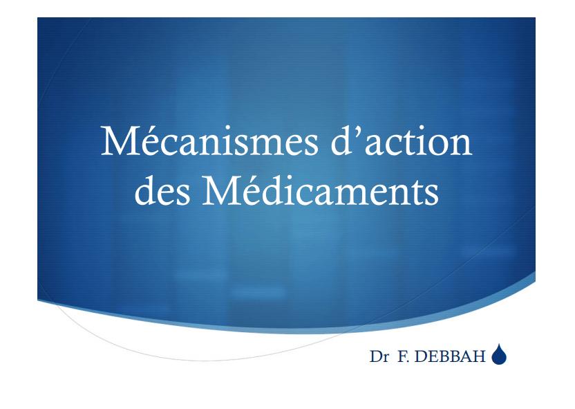 Mécanisme d`action des médicaments .PDF