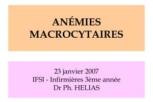 Anémies macrocytaires .PDF