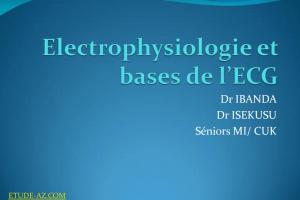 Electrophysiologie et bases de l'ECG .PDF