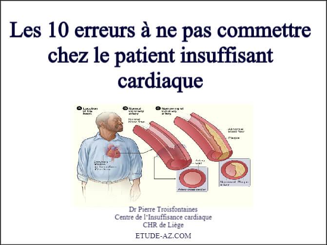 Les 10 erreurs à ne pas commettre chez le patient insuffisant cardiaque .PDF
