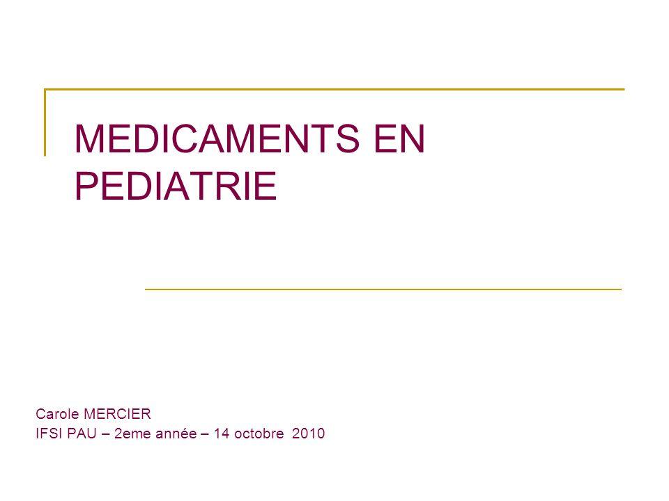 Médicaments en pediatrie
