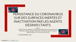 Coronavirus sur des surfaces inertes .PDF