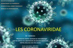 Famille des Coronaviridae : Coronavirus ,Rhume, SRAS et MERS-CoV